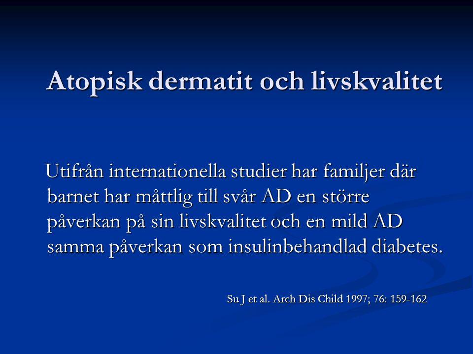 Atopisk dermatit och livskvalitet