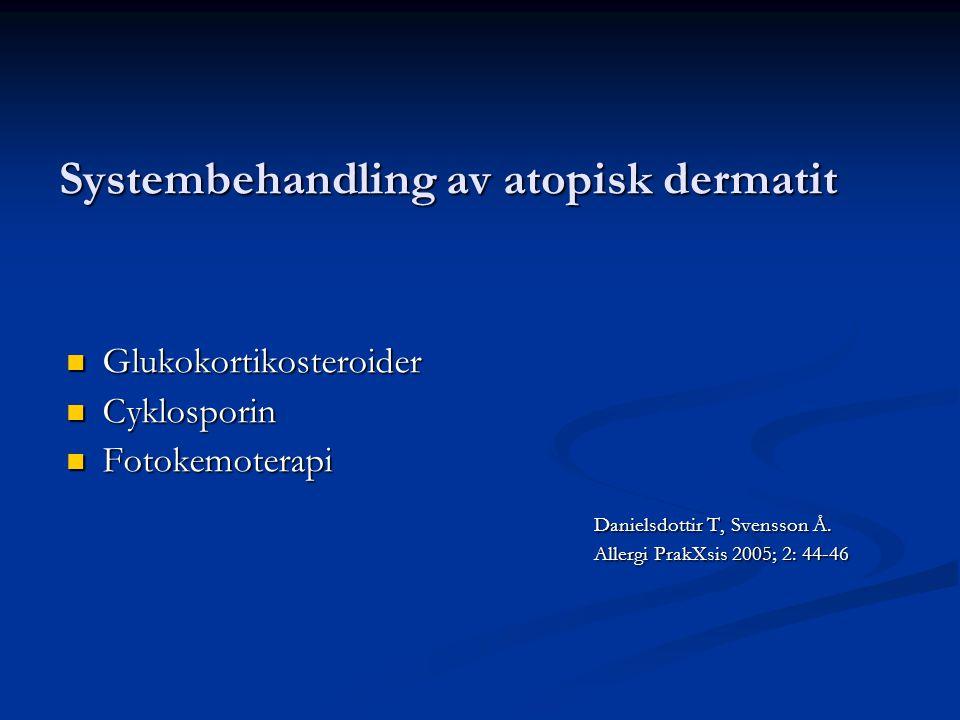 Systembehandling av atopisk dermatit
