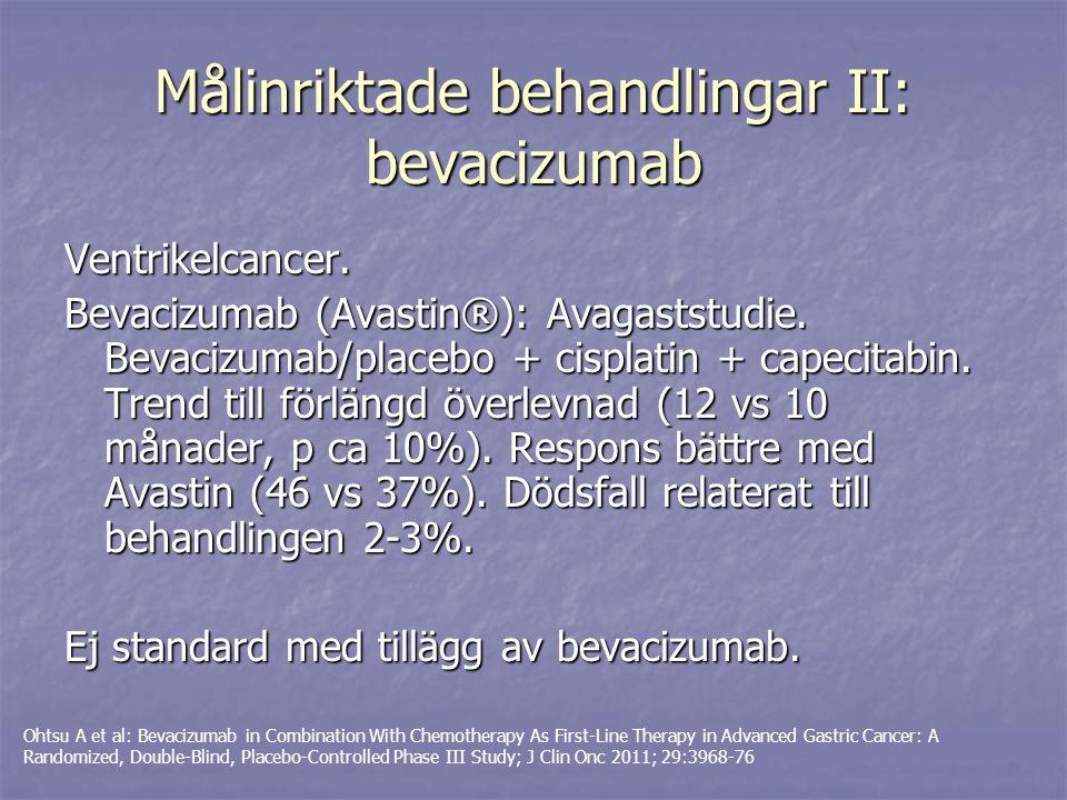 Målinriktade behandlingar II: bevacizumab