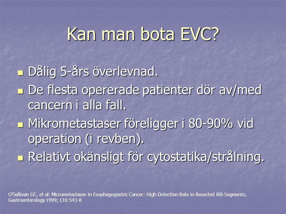 Kan man bota EVC Dålig 5-års överlevnad.