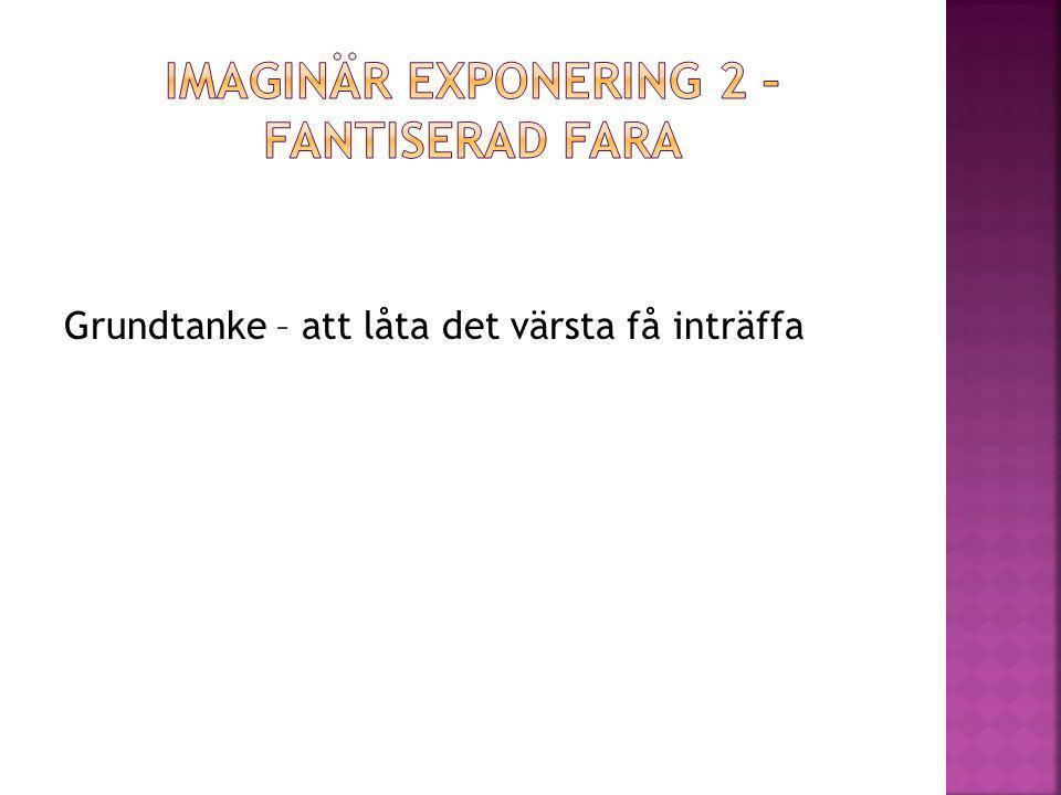 Imaginär exponering 2 – fantiserad fara