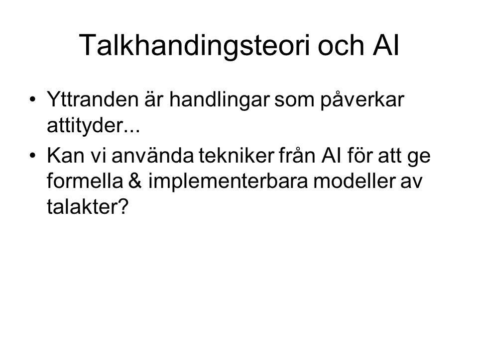 Talkhandingsteori och AI