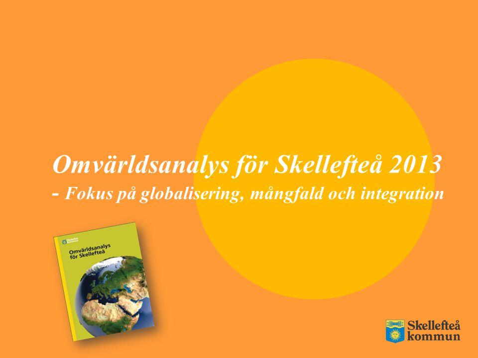 Omvärldsanalys för Skellefteå 2013