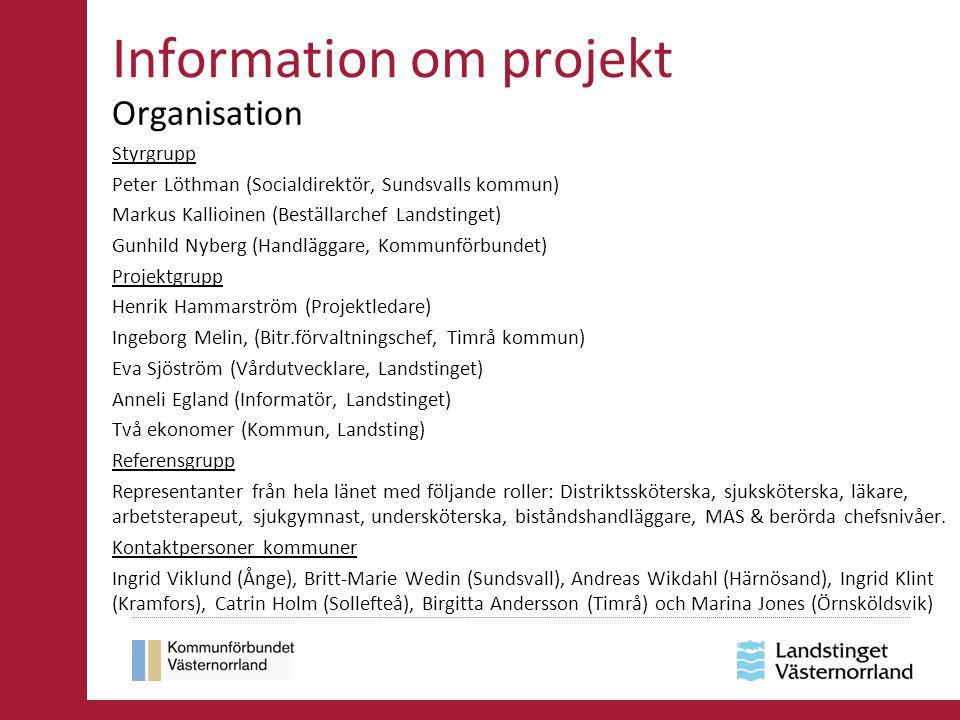 Information om projekt