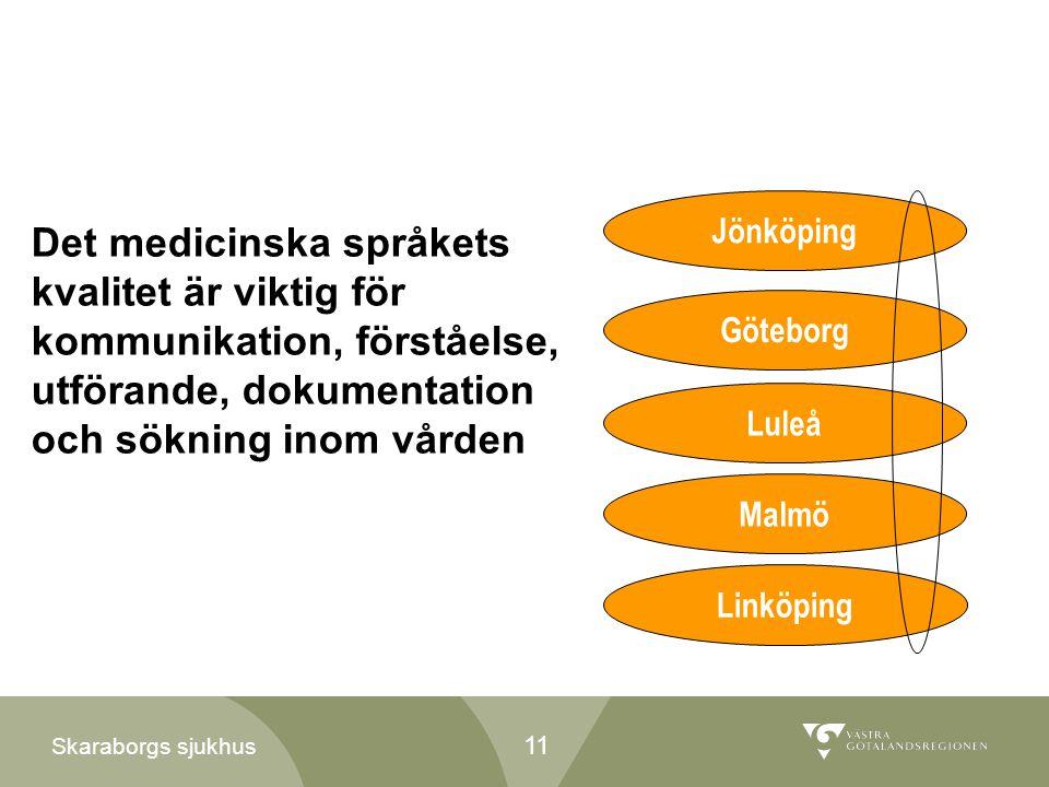 Jönköping Det medicinska språkets kvalitet är viktig för kommunikation, förståelse, utförande, dokumentation och sökning inom vården.