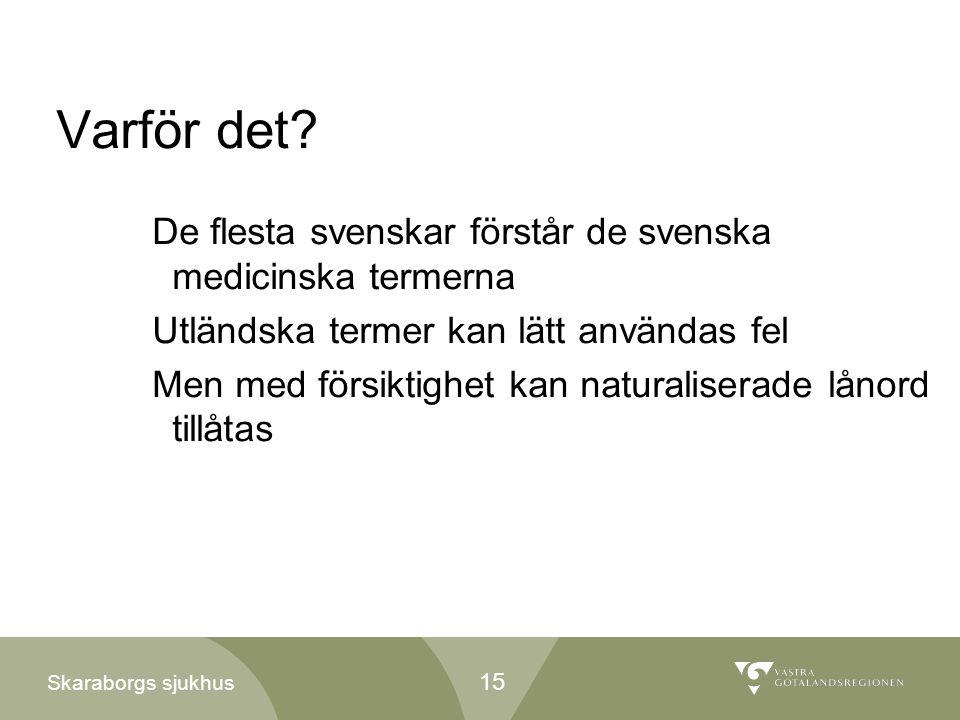 Varför det De flesta svenskar förstår de svenska medicinska termerna