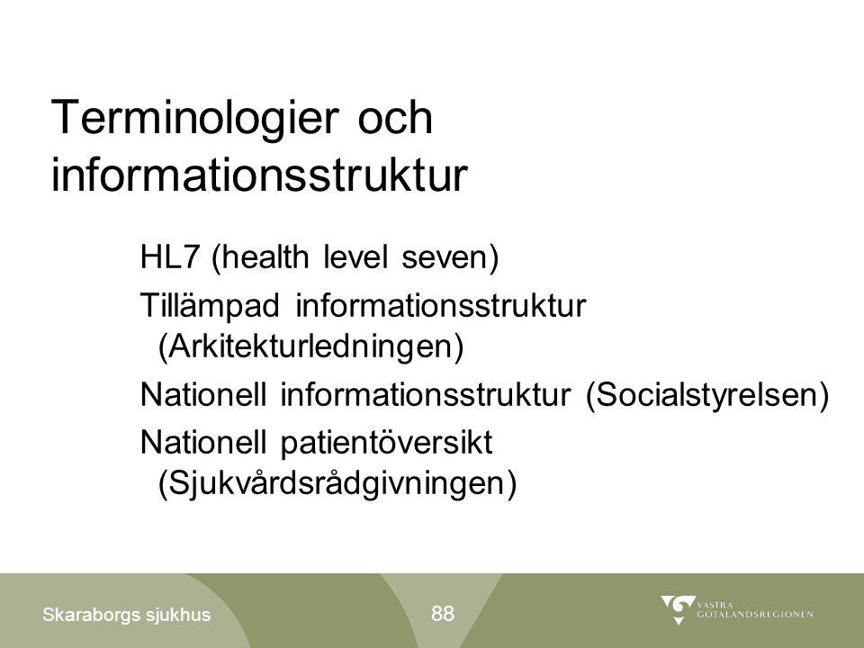 Terminologier och informationsstruktur