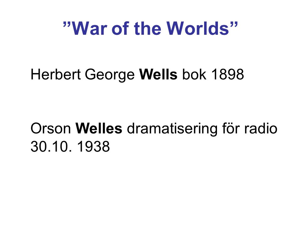 War of the Worlds Herbert George Wells bok 1898