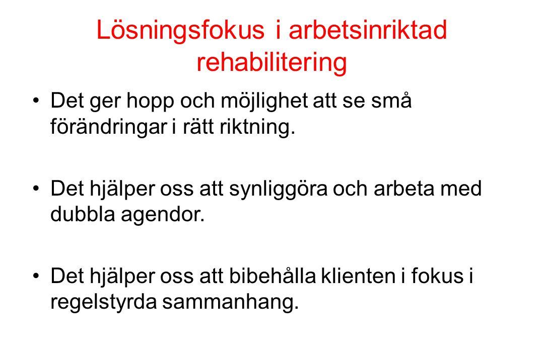 Lösningsfokus i arbetsinriktad rehabilitering