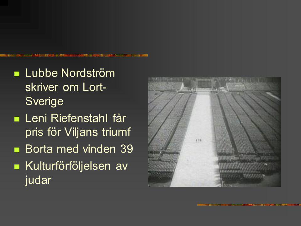 Lubbe Nordström skriver om Lort-Sverige