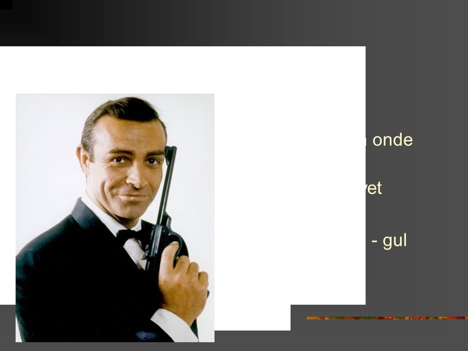 1960 Goldfinger Den gode den onde den fule Mandomsprovet Easy rider