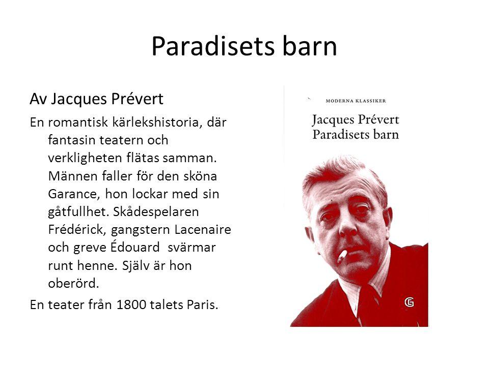 Paradisets barn Av Jacques Prévert