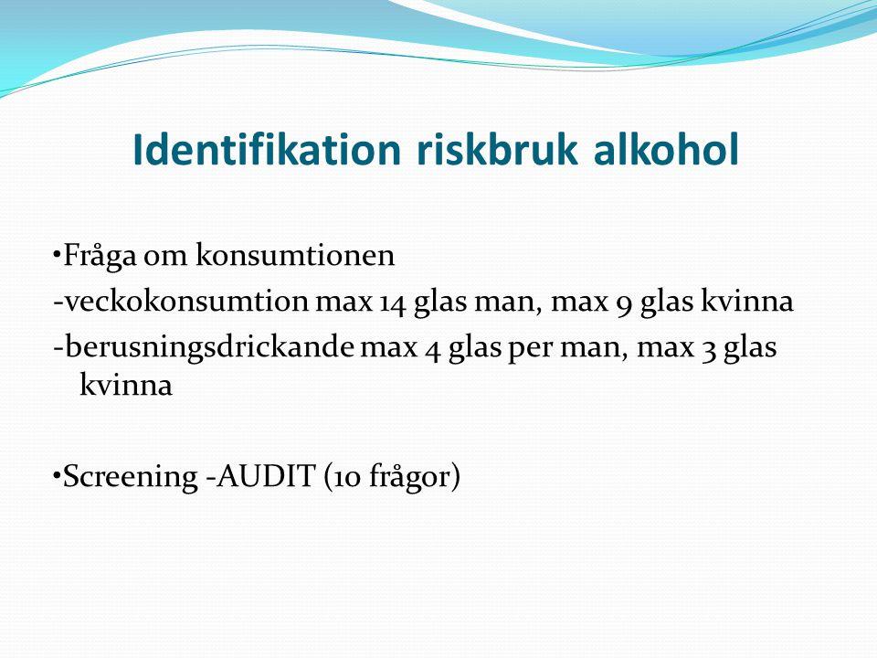 Identifikation riskbruk alkohol