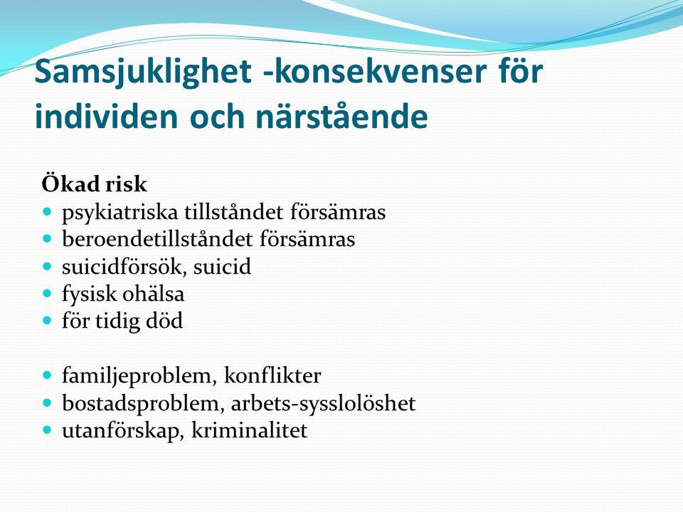 Samsjuklighet -konsekvenser för individen och närstående