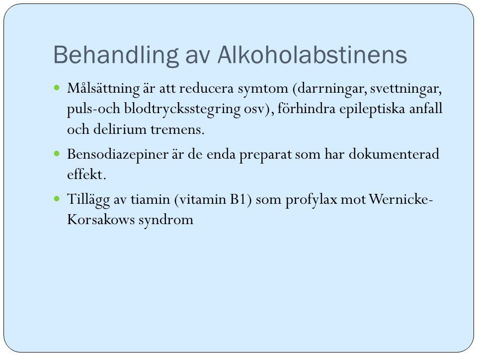 Behandling av Alkoholabstinens