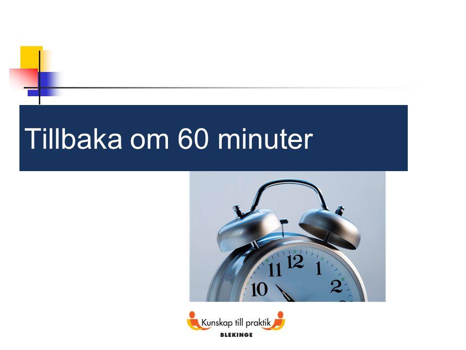 Tillbaka om 60 minuter 22