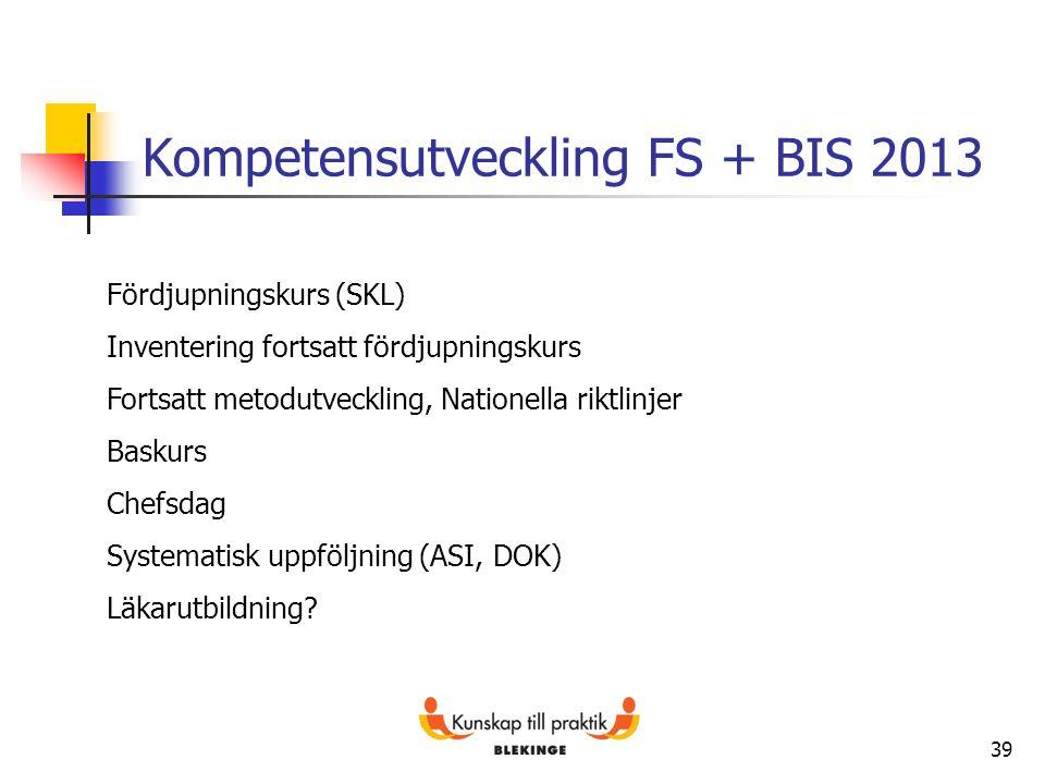 Kompetensutveckling FS + BIS 2013