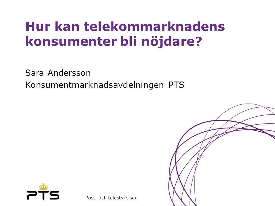 Hur kan telekommarknadens konsumenter bli nöjdare