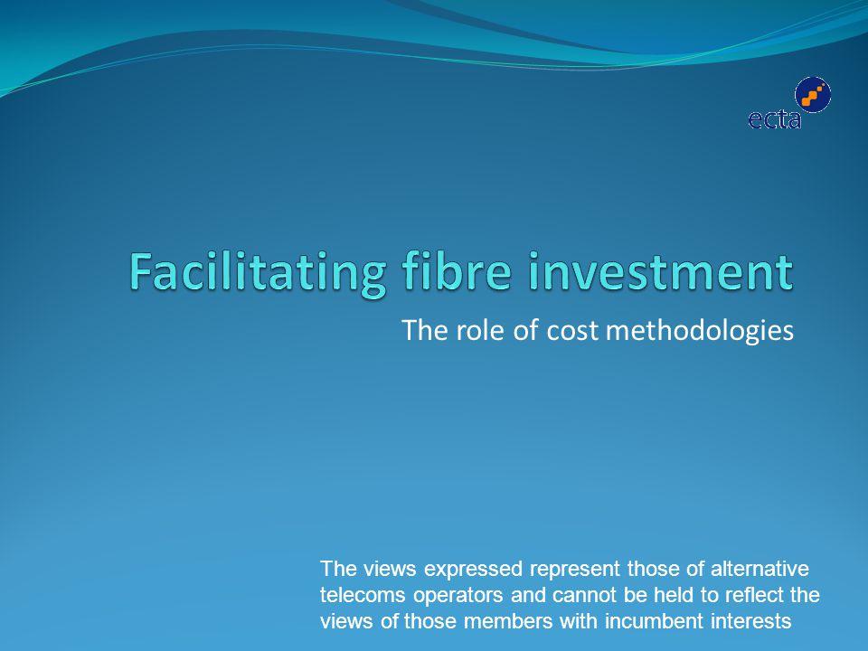 Facilitating fibre investment