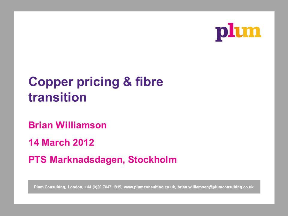 Copper pricing & fibre transition