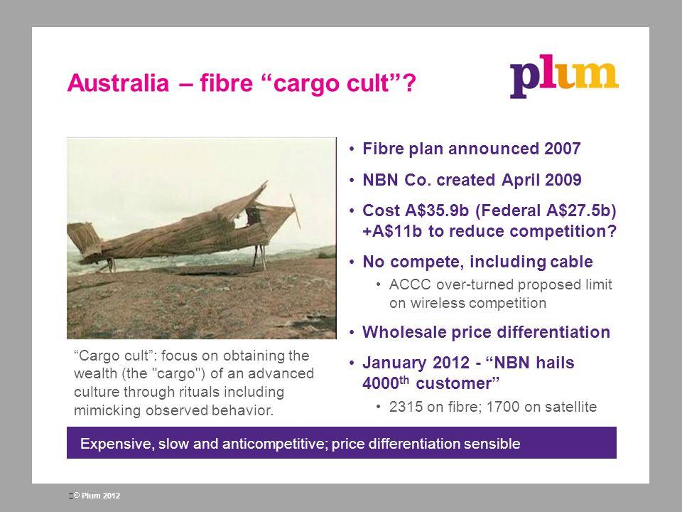 Australia – fibre cargo cult