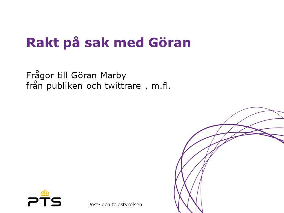 Frågor till Göran Marby från publiken och twittrare , m.fl.