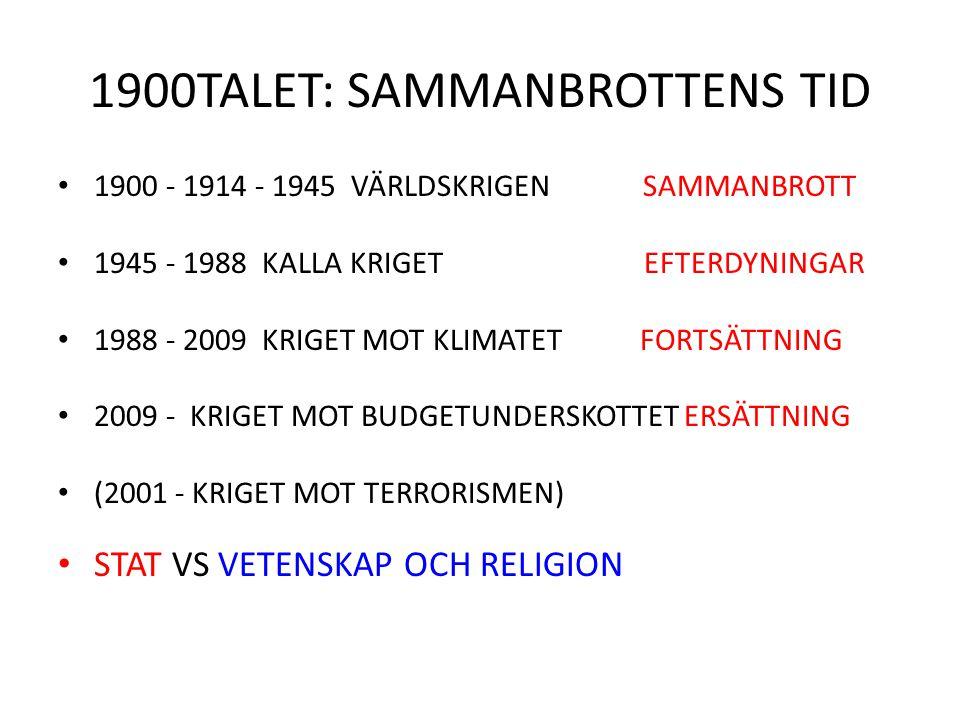 1900TALET: SAMMANBROTTENS TID
