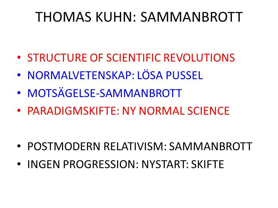 THOMAS KUHN: SAMMANBROTT