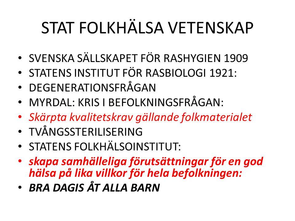 STAT FOLKHÄLSA VETENSKAP