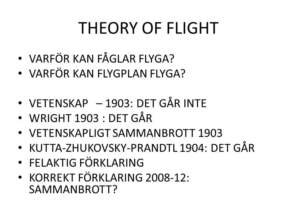 THEORY OF FLIGHT VARFÖR KAN FÅGLAR FLYGA VARFÖR KAN FLYGPLAN FLYGA