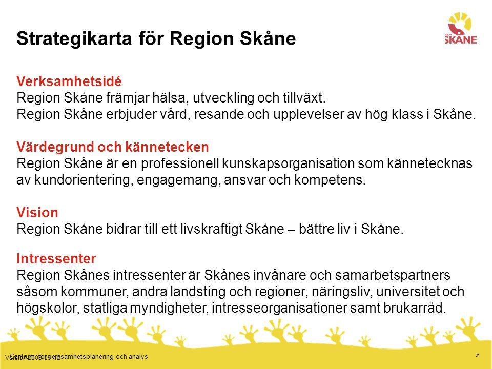 Strategikarta för Region Skåne
