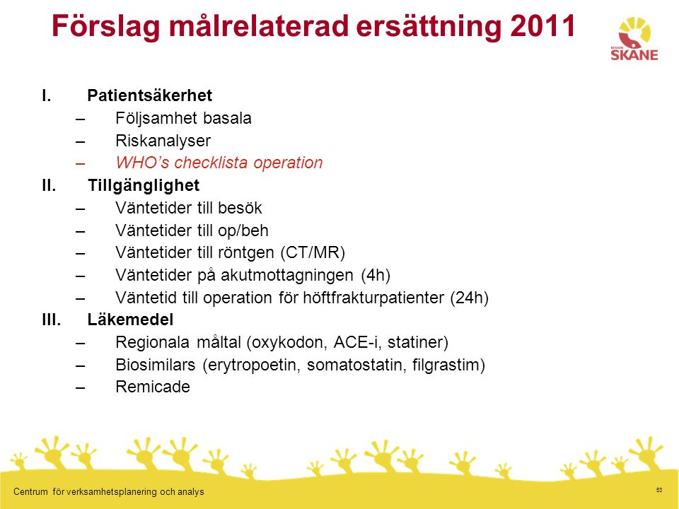 Förslag målrelaterad ersättning 2011