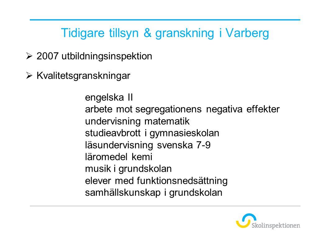 Tidigare tillsyn & granskning i Varberg