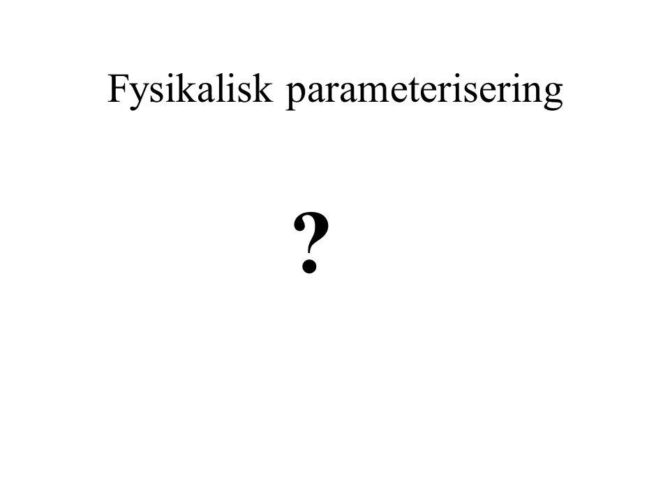 Fysikalisk parameterisering
