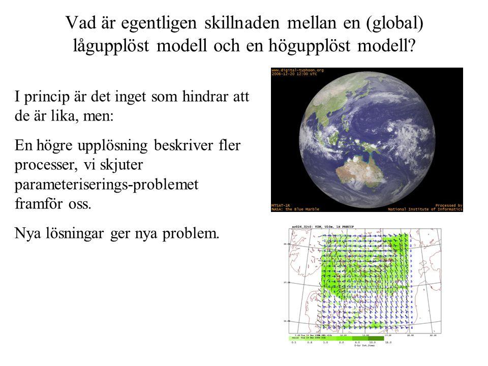 Vad är egentligen skillnaden mellan en (global) lågupplöst modell och en högupplöst modell