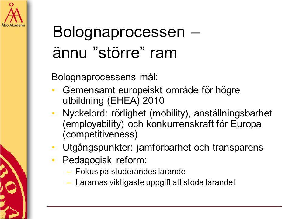 Bolognaprocessen – ännu större ram