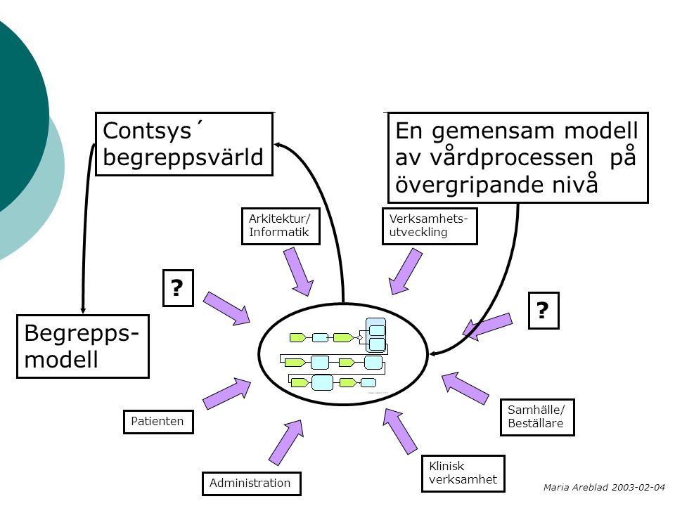 Contsys´ begreppsvärld En gemensam modell av vårdprocessen på