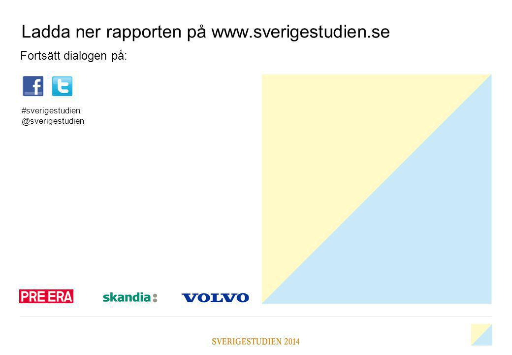 Ladda ner rapporten på www.sverigestudien.se