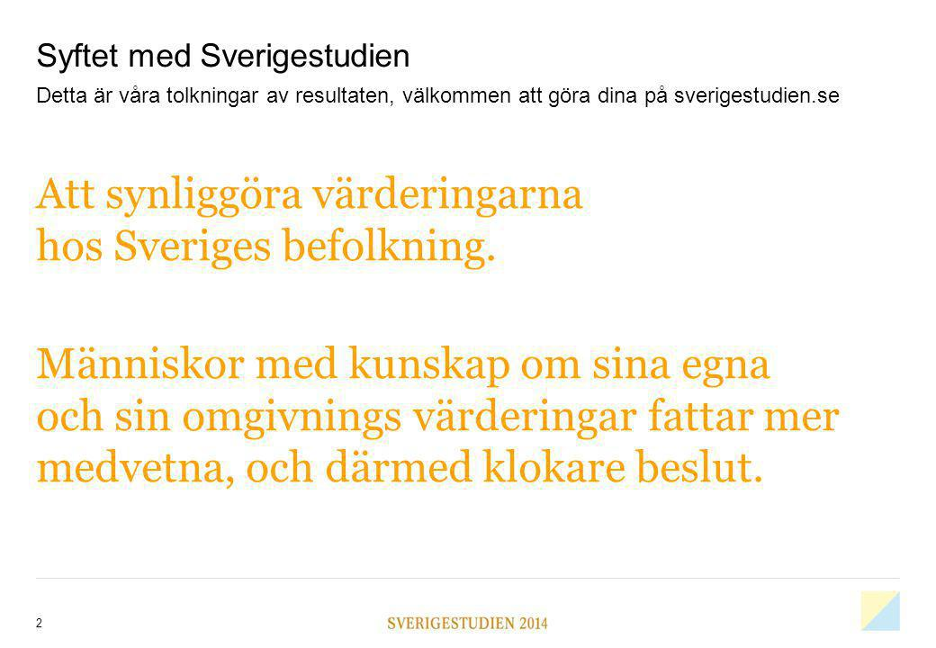 Syftet med Sverigestudien