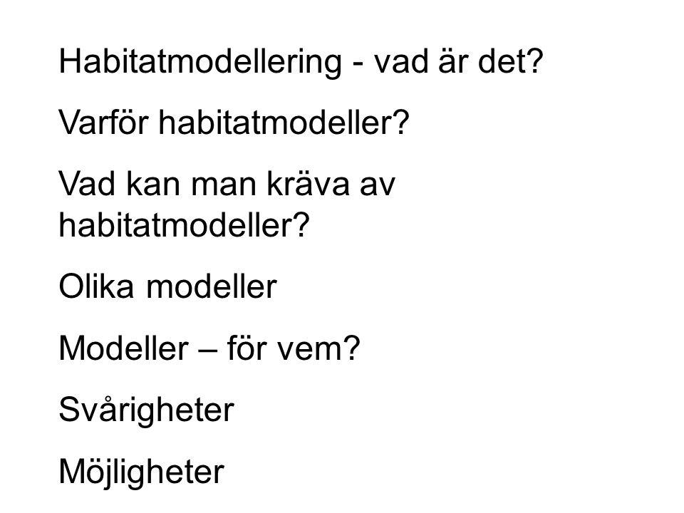 Habitatmodellering - vad är det