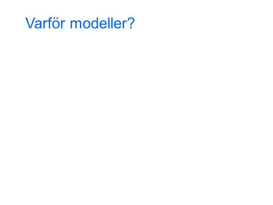 Varför modeller