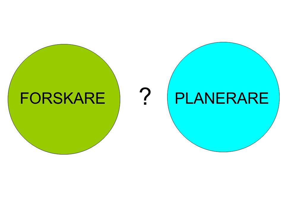 FORSKARE PLANERARE
