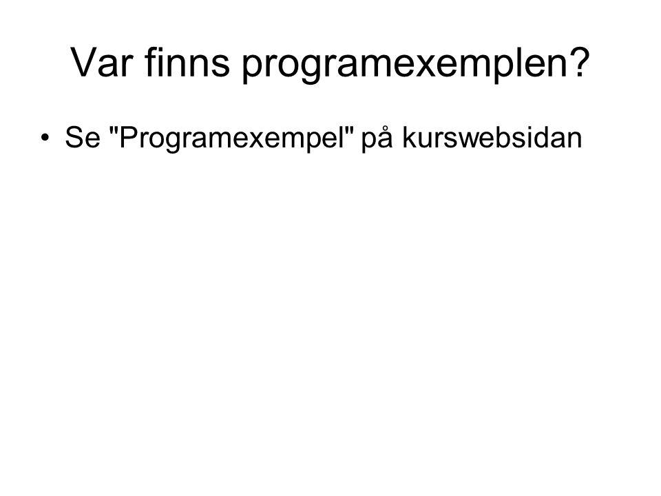 Var finns programexemplen