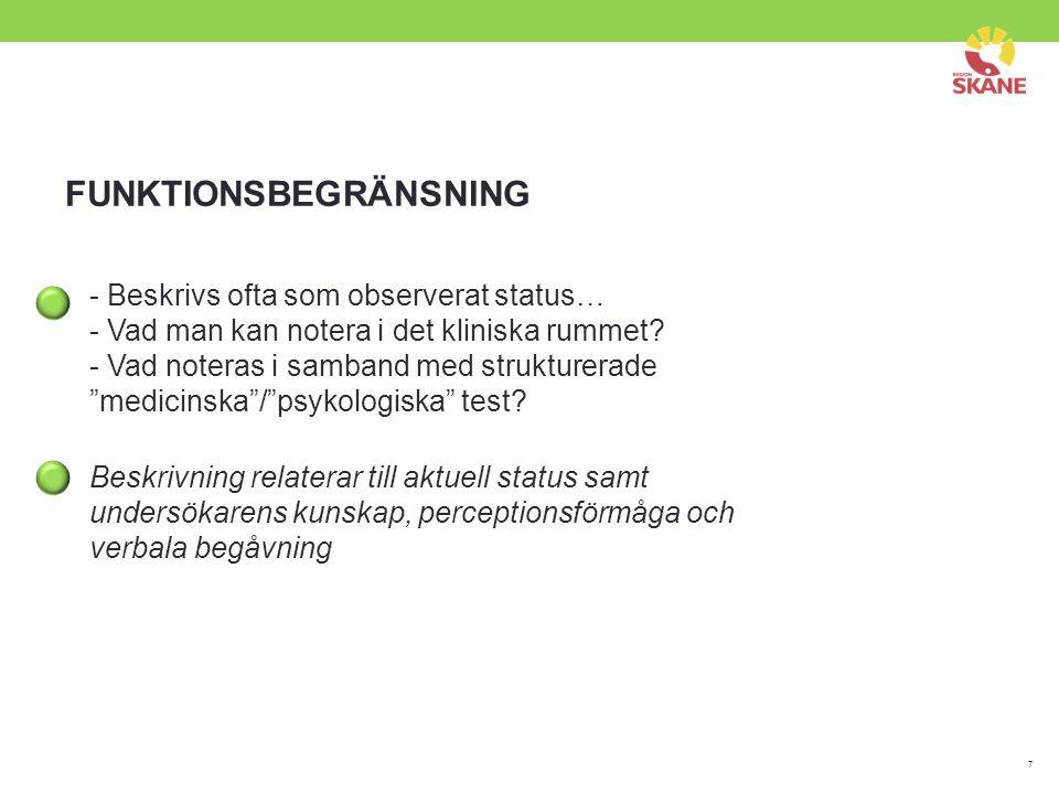 FUNKTIONSBEGRÄNSNING
