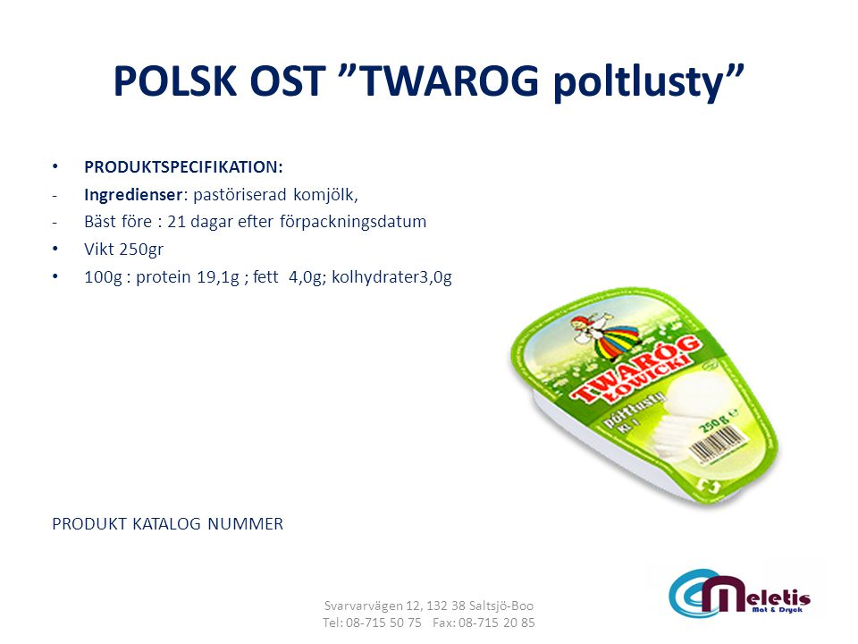 POLSK OST TWAROG poltlusty