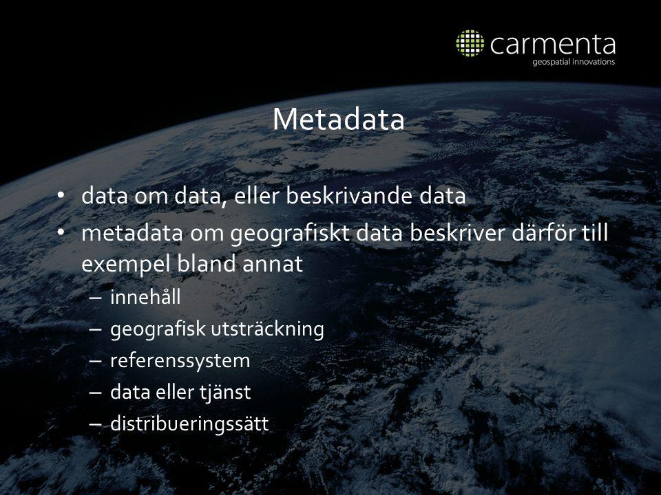 Metadata data om data, eller beskrivande data