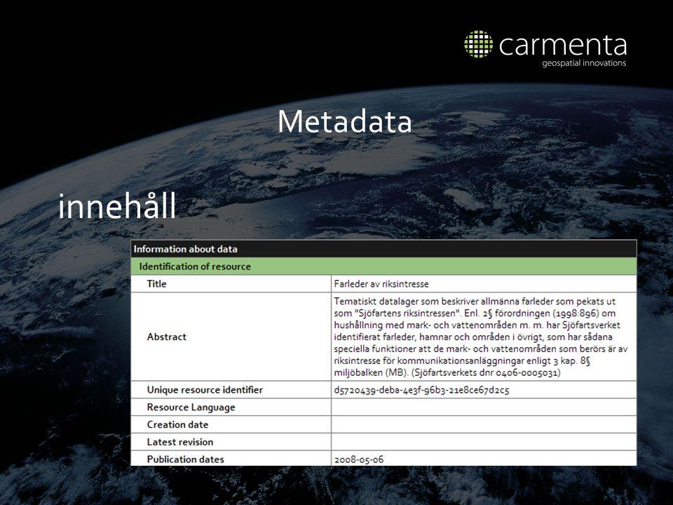 Metadata innehåll
