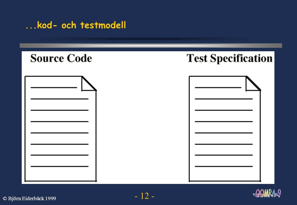 ...kod- och testmodell © Björn Eiderbäck 1999