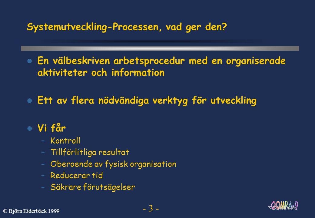 Systemutveckling-Processen, vad ger den