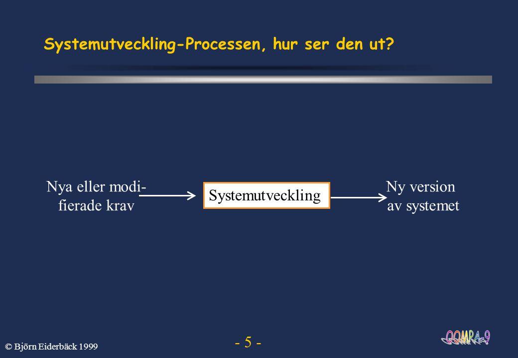 Systemutveckling-Processen, hur ser den ut